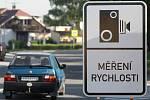 Měření rychlosti v ostravských ulicích