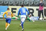 Utkání 10. kola první fotbalové ligy: SFC Opava - FC Baník Ostrava, 5. prosince 2020 v Opavě. brankář Ostravy Jan Laštůvka chytá penaltu.