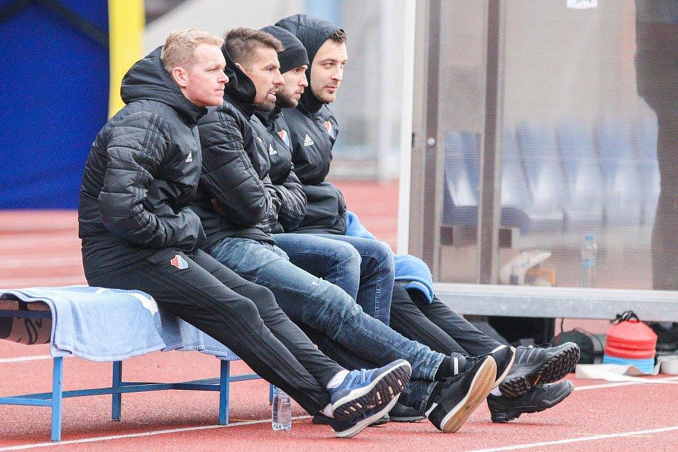 Utkání 25. kola první fotbalové ligy: FC Baník Ostrava - FK Mladá Boleslav, 16. března 2019 v Ostravě. Na snímku (druhý zleva) Milan Baroš.