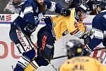 Utkání 41. kola hokejové extraligy: HC Vítkovice Ridera - PSG Berani Zlín, 28. ledna 2020 v Ostravě. Na snímku (zleva) Jan Výtisk a Antonín Honejsek.