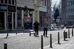 Ostrava v celostátní karanténě, 17. března 2020. Vláda ČR vyhlásila dne 15.3.2020 celostátní karanténu kvůli zamezení šíření novému koronavirové onemocnění (COVID-19).