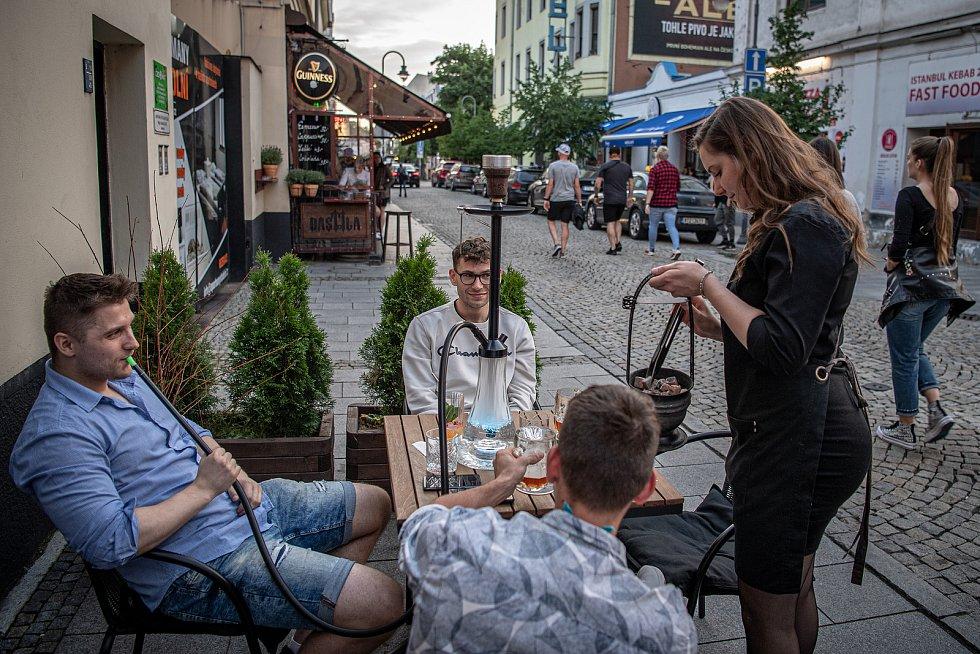 Stodolní ulice v Ostravě, 11. června 2021. marvin's hookah lounge Ostrava.