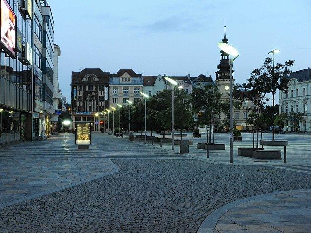 Centrum Ostravy v sobotu večer