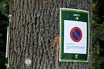 Opatření lesáků proti parkování u transformátoru nad Ostravicí a v jeho okolí.