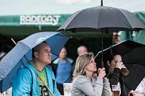 Promítání zápasu mezi Českem a Španělskem na Euru sledovalo v areálu bývalého hřiště NH v Ostravě-Jihu asi osmdesát fanoušků.