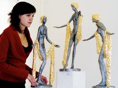 Ze současné ostravské výstavy autora ve Výtvarném centru Chagall