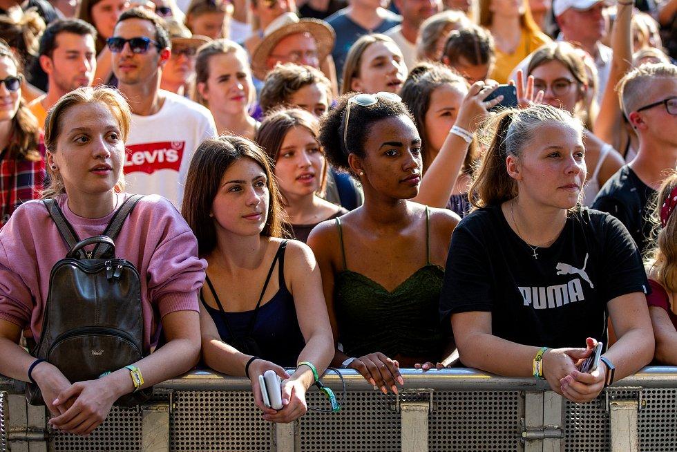 Hudební festival Colours of Ostrava 2019 v Dolní oblasti Vítkovice, 18. července 2019 v Ostravě.