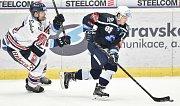 Utkání 30. kola hokejové extraligy: HC Vítkovice Ridera - HC HC Škoda Plzeň, 28. prosince 2018 v Ostravě. Na snímku (zleva) Rostislav Olesz a Miroslav Indrák.