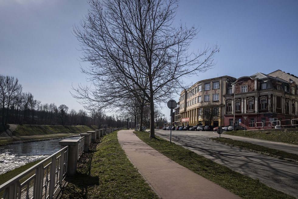Rekonstrukce Havlíčkova nábřeží v centru Ostravy.