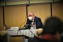 Náměstek hejtmana pro zdravotnictví Martin Gebauer na zasedání zastupitelstva.