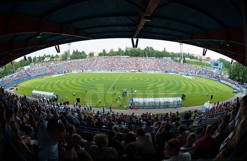 Ostravský stadion Bazaly. Ilustrační foto.
