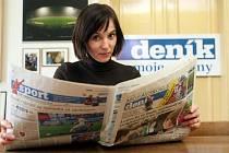 Šárka Kalousková v redakci Deníku.