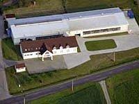 Letecký pohled na sídlo firmy