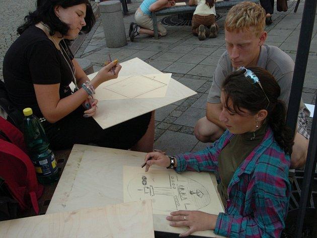 Ostravský Kuří rynek se proměnil na místo plné malování