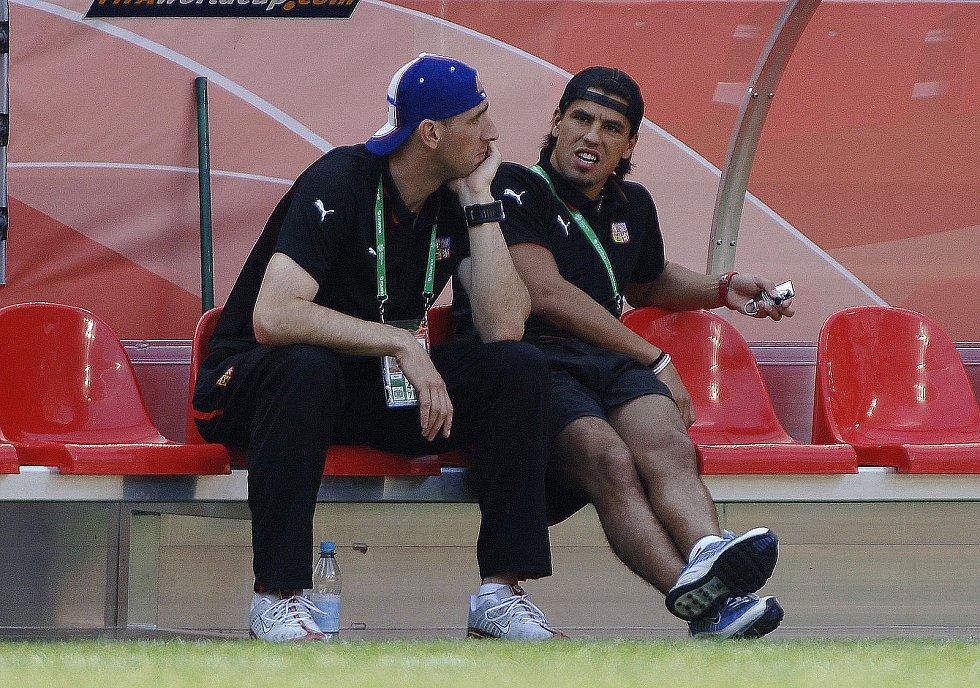 Milan Baroš a Jan Koller. MS 2006 proti Ghaně.