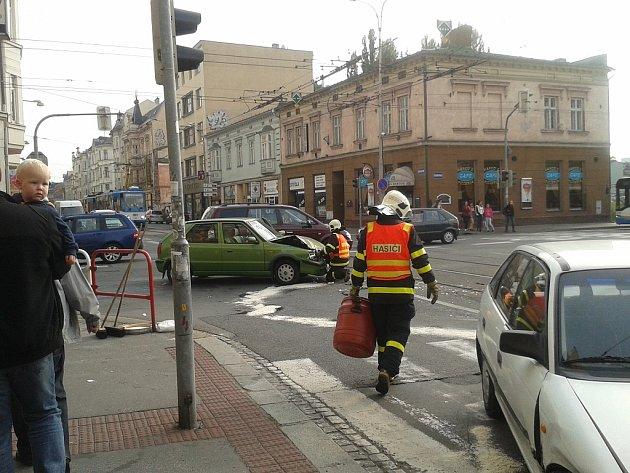Úterní nehoda v centru Ostravy