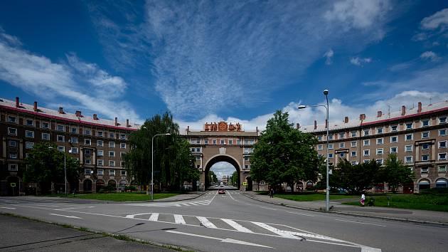 Oblouk v městské části Poruba, 20. května 2019 v Ostravě.
