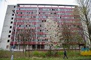 """Administrativní budova bývalého výzkumu jaderné energetiky ve Vítkovicích, přezdívaná také """"ostravský Pentagon."""""""