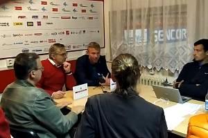 Tisková konference po zápase Olomouc - Vítkovice
