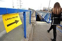 Podchod pod tramvajovou zastávkou Most Mládeže v Ostravě-Jihu je dokončený.