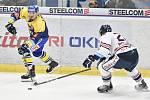 Utkání 32. kola hokejové extraligy: HC Vítkovice Ridera - PSG Berani Zlín, 4. ledna 2019 v Ostravě. Na snímku (zleva) Lakatoš Dominik a Poletín Michal.