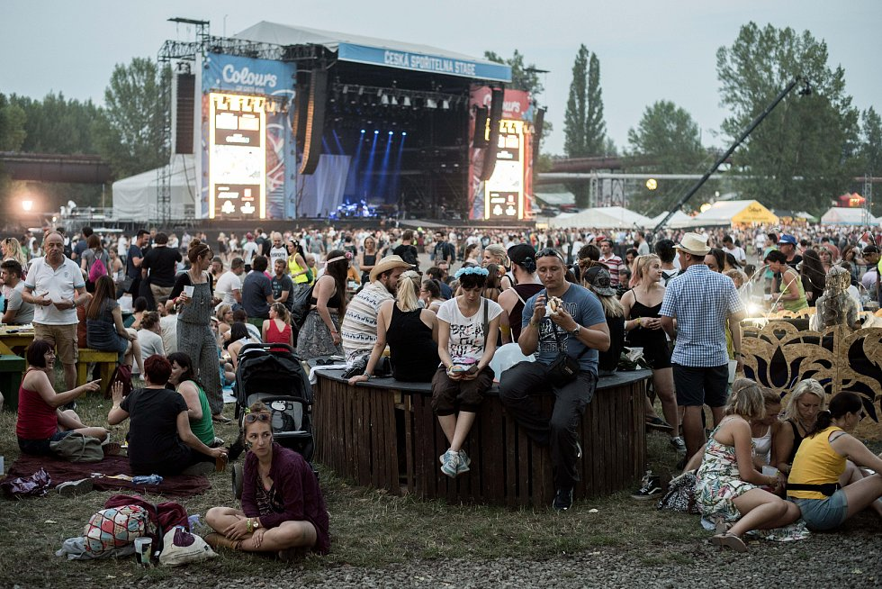 Hudební festival Colours of Ostrava v Ostravě 20. července 2017.