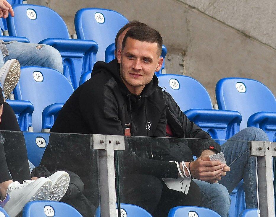 Fotbalisté Baníku Ostrava bojovali 15. května 2021 v utkání 32. ligového kola se Zlínem. Roman Potočný.