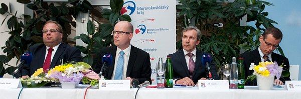 Premiér Bohuslav Sobotka na návštěvě Moravskoslezského kraje.