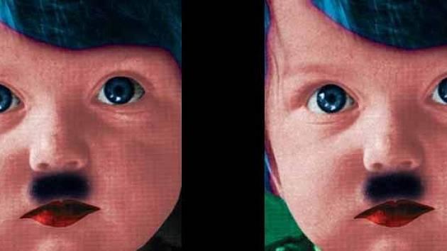 JIŘÍ SURŮVKA: obraz Dvojčata (výřez).