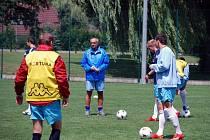 Trenér Karel Večeřa při tréninku