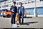 Čtyři nové cisterny předal ve středu Hasičskému záchrannému sboru Moravskoslezského kraje (HZS MSK) ministr Jan Hamáček. Ten ocenil i hasičského psovoda.