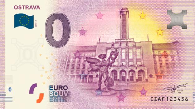 Ostravská suvenýrová eurobankovka