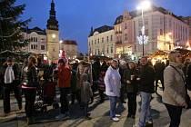 Vánoční trhy na Masarykově náměstí v centru Ostravy.