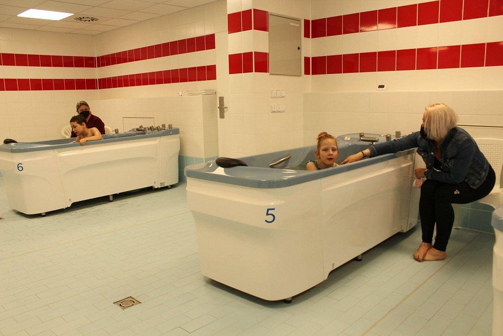 Nové vanové oddělení dětské léčebny v sanatoriích.