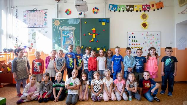 1. třída ZŠ Březinova v obvodu Ostrava-Jih.