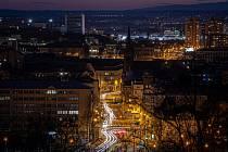 Noční Ostrava, 12. března 2021.