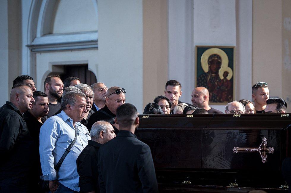 Pohřeb Františka Gažíka, 26. sprna 2019 v Ostravě.