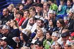 Superfinále play off Tipsport superligy - Technology florbal Mladá Boleslav - 1. SC TEMPISH Vítkovice, 14. dubna 2019 v Ostravě. Na snímku fanoušci.