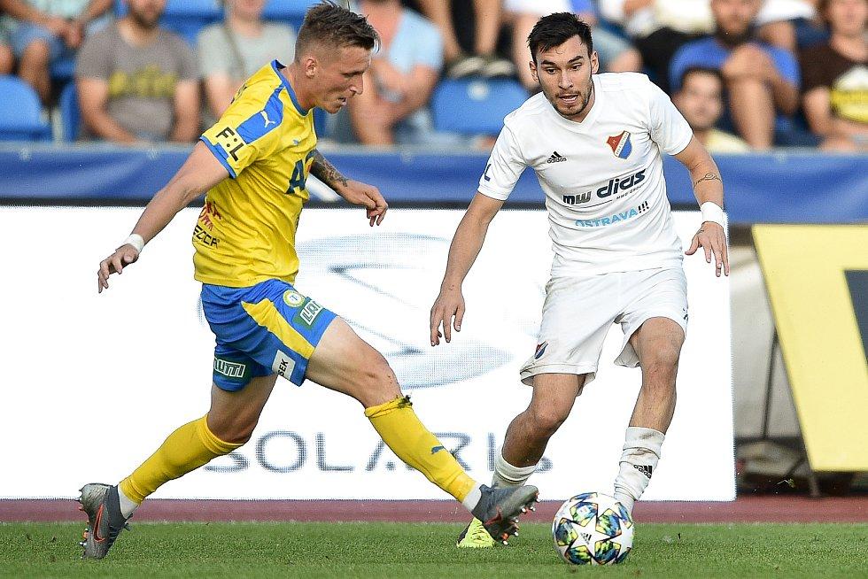 Utkání 3. kola první fotbalové ligy: FC Baník Ostrava - FK Teplice, 26. července 2019 v Ostravě. Na snímku (zleva) Petr Mareš a Rudolf Reiter.