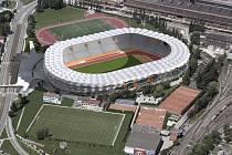 Vizualizace zamýšleného nového městského stadionu v Ostravě