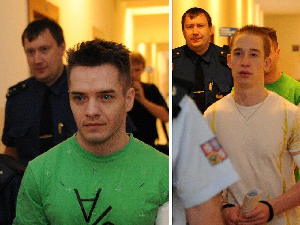 Jaroslav Hamšík (vlevo) a Radek Pluciak jsou obžalováni z obchodování s lidmi. Hrozí jim až dvanáct let vězení.
