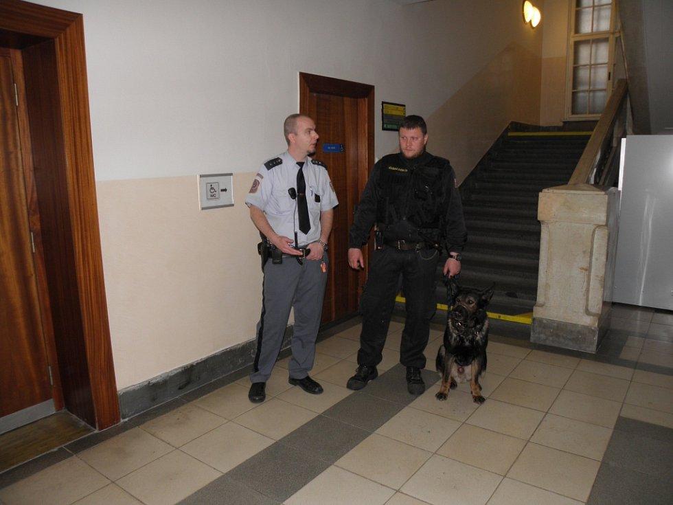 O soud v kauze krvavé potyčky v ostravské herně byl velký zájem. Snímek zachycuje atmosféru před jednací síní soudu v Ostravě.