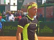 Dvacetiletý talent Zdeněk Kolář se na challengeru v Prostějově představil pouze ve čtyřhře.