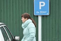 Tady parkují ženy. Ilustrační foto z parkoviště ostravské zoo.