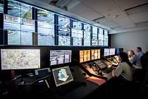 Monitorovací středisko Městské policie Ostrava (MPO) na Integrovaném bezpečnostním centru (IBC)  v Ostravě.