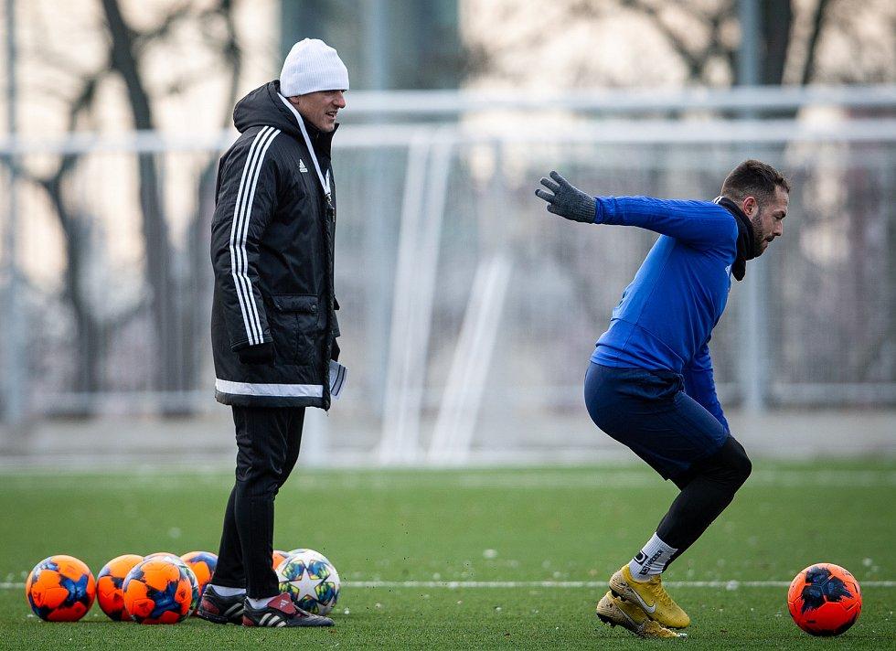 První trénink Baníku pod novým trenérem, 6. ledna 2020 v Ostravě. Na snímku trenér Baníku Ostrava Luboš Kozel.