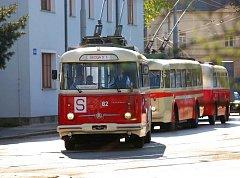 Ilustrační foto z jízdy historickými trolejbusy v Ostravě