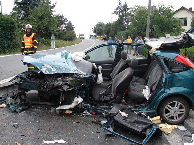 Těžká nehoda u Klimkovic