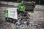 Den otevřených dveří na skládce komunálního odpadu OZO Ostrava.