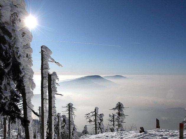 První únorový den 2012 na Lysé hoře